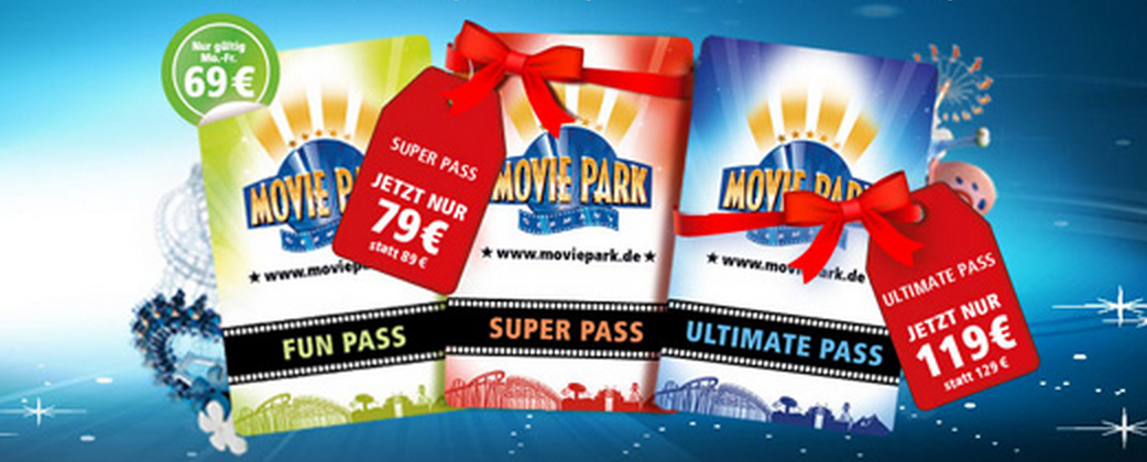 Movie Park Saisonpass Angebot